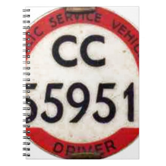 BUS DRIVER UK BADGE RETRO NOTEBOOK