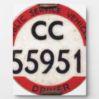 BUS DRIVER UK BADGE RETRO PLAQUES