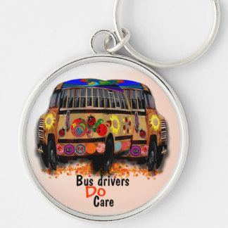 Bus Drivers Do Care Key Ring