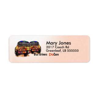 Bus Drivers Do Care Return Address Label