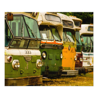 BUS GRAVEYARD PRINT PHOTO ART