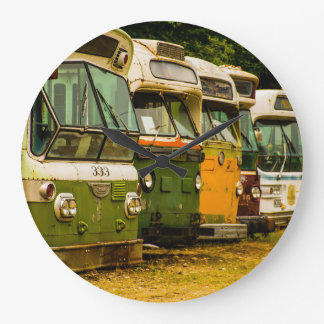 Bus Graveyard Round (Large) Wall Clock