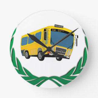 bus in green clocks
