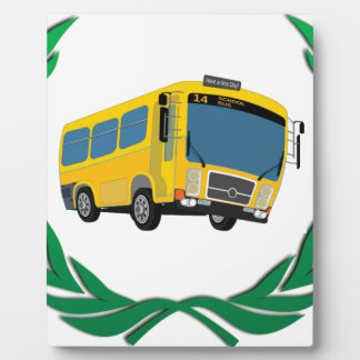 bus in green display plaque