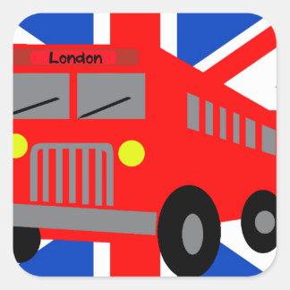 Bus in London Square Sticker
