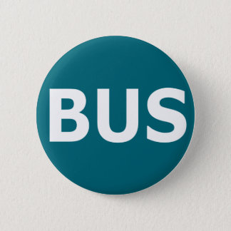 BUS logo - Blau 6 Cm Round Badge