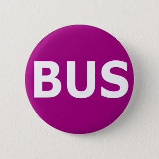 BUS logo - Violet 6 Cm Round Badge