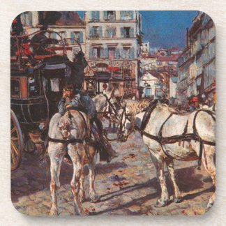 Bus on the Pigalle Place in Paris by Giovanni Bold Coaster