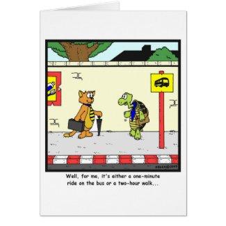 Bus Ride: Tortoise cartoon Card
