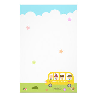 Bus School Back To School Stationary Stationery