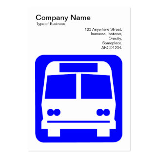 Bus Sign - Blue on White Business Card