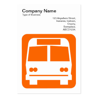Bus Sign - Orange on White Business Cards