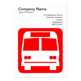 Bus Sign - Red on White Business Cards