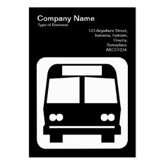 Bus Sign - White on Black Business Card Templates