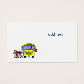 bus with school children business card