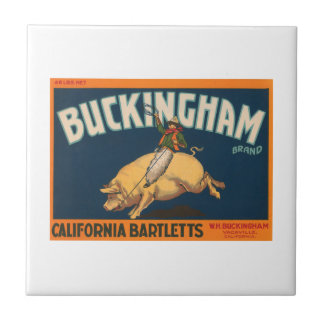 Busckingham California Bartletts Vintage Crate Lab Tile