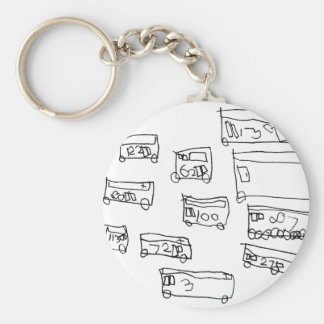 Buses Key Ring