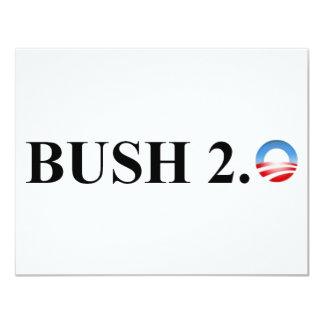 BUSH 2.0 11 CM X 14 CM INVITATION CARD