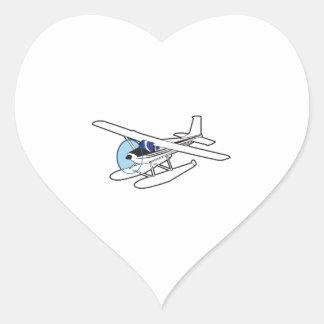 BUSH AIRPLANE HEART STICKER