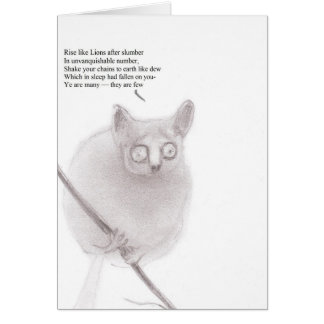 Bush baby anarchist stationery note card