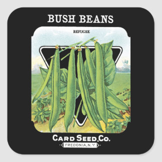 Bush Beans Seed Packet Label