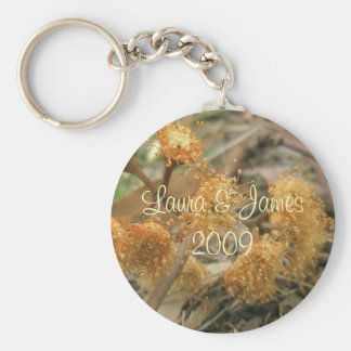 Bush Beauty Basic Round Button Key Ring