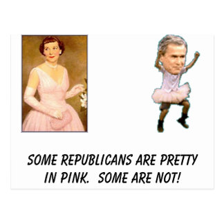 bush , eisenhower_mamie, Some Republicans are p... Postcard
