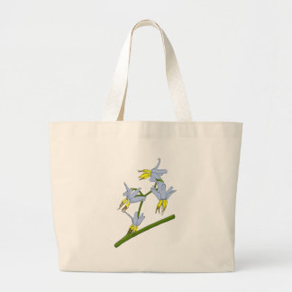 Bush Flowers Large Tote Bag