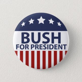Bush For President 6 Cm Round Badge