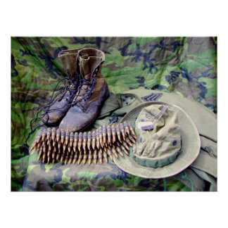 Bush Hat and Jungle Boots poster