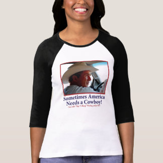 BUSH-HAT.-white-Cowboy-eps T-Shirt