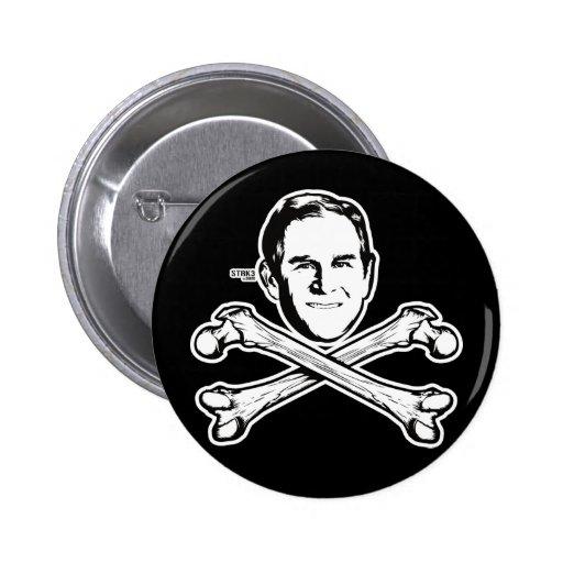 Bush Head and Crossbones Button