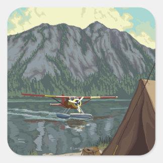 Bush Plane & Fishing - Fairbanks, Alaska Stickers