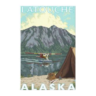 Bush Plane Fishing - Latouche Alaska Canvas Print