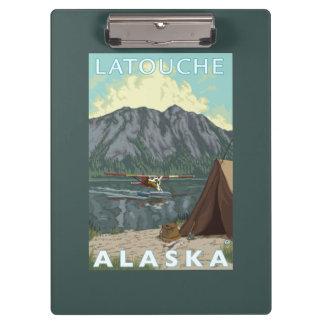Bush Plane & Fishing - Latouche, Alaska Clipboard