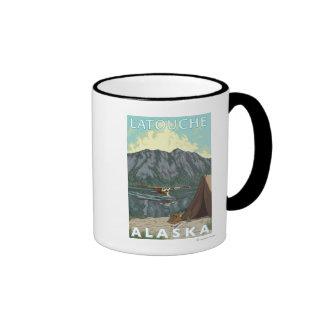 Bush Plane & Fishing - Latouche, Alaska Coffee Mugs