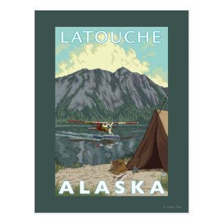 Bush Plane & Fishing - Latouche, Alaska Postcard