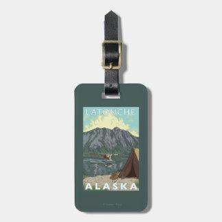 Bush Plane & Fishing - Latouche, Alaska Travel Bag Tag