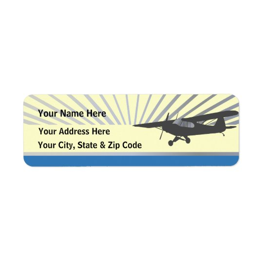 Bush Plane Return Address Label