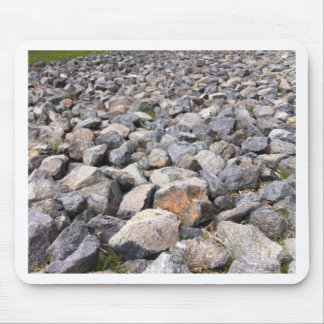 Bush setting of man made rock formation pattern mouse pad