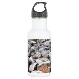 Bush setting of man made rock formation pattern 18oz water bottle