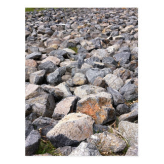 Bush setting of man made rock formation pattern postcard