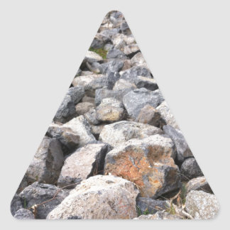 Bush setting of man made rock formation pattern triangle sticker