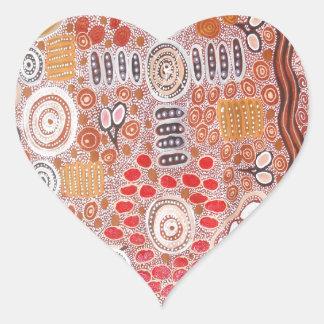 Bush Tucker Heart Sticker
