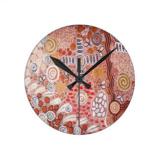 Bush Tucker Round Clock