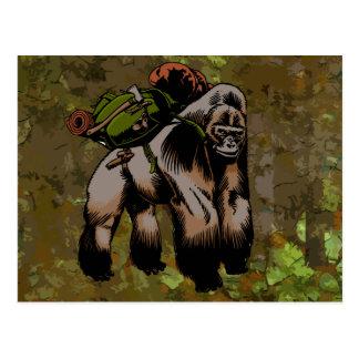 Bushcraft Gorilla Postcard