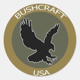 BushcraftUSA Brown Patch Classic Round Sticker