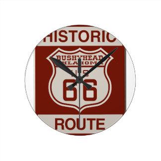 BUSHEYHEAD66 ROUND CLOCK