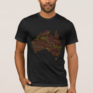 Bushfire Special Edition Aussie Slang Map T-Shirt
