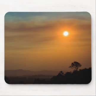 Bushfire Sunset Mouse Pad